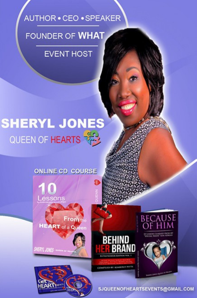 Sheryl is a Inspirational Speaker who educates on how to handle the Storms of Life with a Smile!